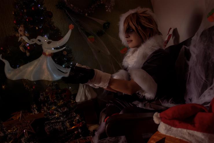 Sora Christmas Town Cosplay.Sora Christmas Town Nile ナイル Sora Cosplay Photo