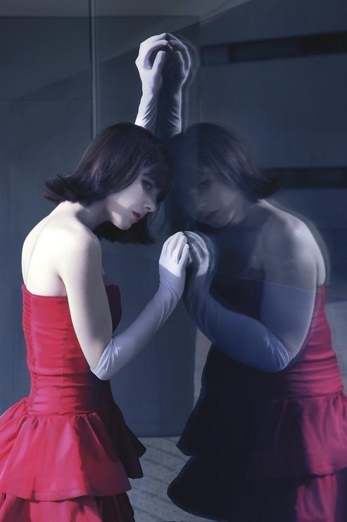 Red Kazumimi Usagi Mimi Mima Kirigoe Cosplay Photo