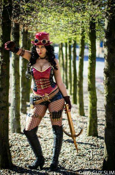 Liesel Van Helsing By On Goth Girls Steampunk Cosplay Family Strokes 1