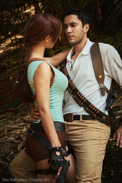 Nate & Lara ❤ - Dan Ballestero(Dan) Nathan Drake Cosplay Photo ... Лара Крофт (Lara Croft) cosplay JannetInCosplay