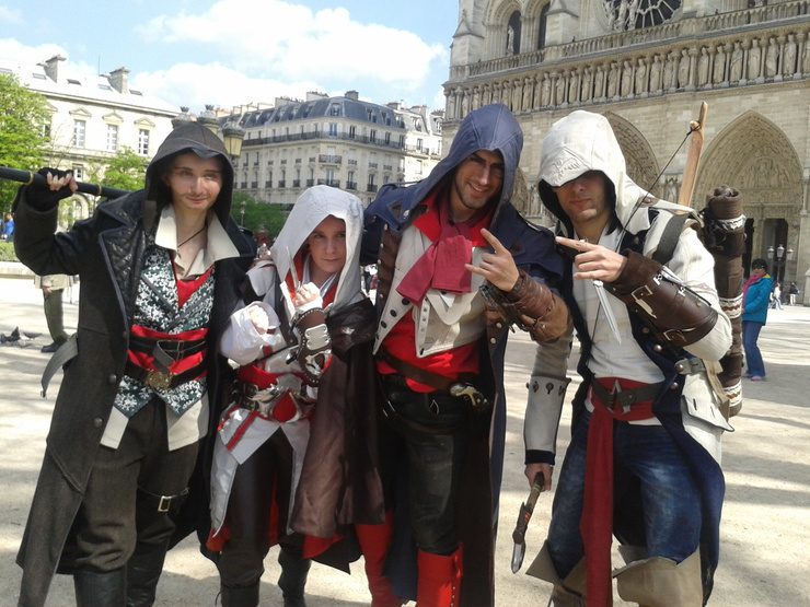 Team Assassin S Creed Cosplay Creedofdivine Connor Kenway