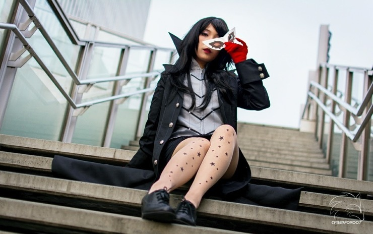 Female Akira Kurusu 8bitpink Protagonist Cosplay Photo