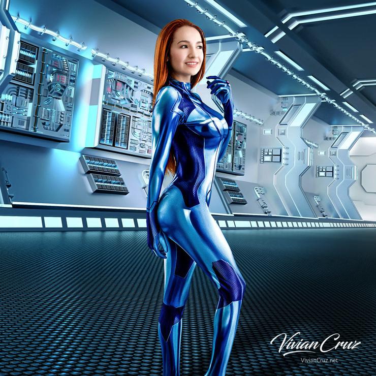 Samus Aran Zero Suit Vivian Cruz Samus Aran Cosplay Photo